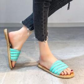 Non-slip Candy Color Scrub Linen Slippers  NSPE34973