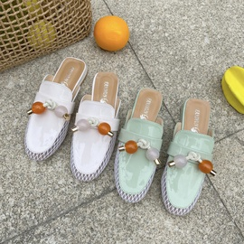 Low-cut Mesh Mesh Breathable Thick Heel Slippers  NSPE34981