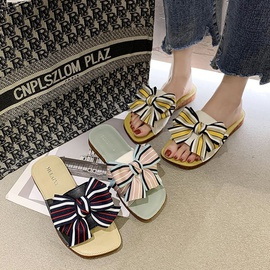 Fashion Bows Leather Slippers  NSPE34982