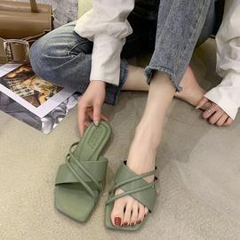 Cross Soft Flat Non-slip Slippers NSPE34983