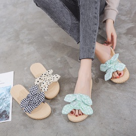 Fashion Non-slip Thick-soled Bowknot Slippers   NSPE35015