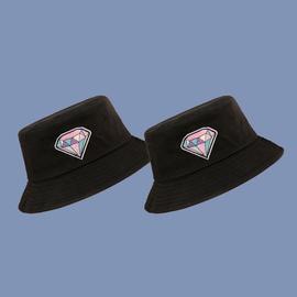 Casual Color Diamond Print Fisherman Hat   NSTQ34703
