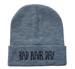 Letter Embroidery Woolen Knitted Hat   NSTQ34716