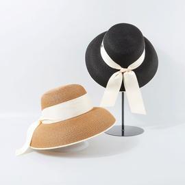 Flat-top Bow Knot Sunscreen Straw Hat  NSTQ34718