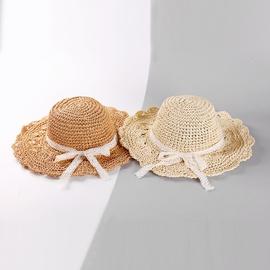 Ruffle Lace Bowknot Straw Hat   NSTQ34748
