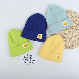 Parent-child Smiley Face Knitted Hat  NSTQ34756