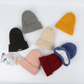 Solid Color Plus Velvet Knitted Hat   NSTQ34759