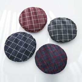 Fashion Edging Beret All-match Plaid Flat Cap NSTQ34761