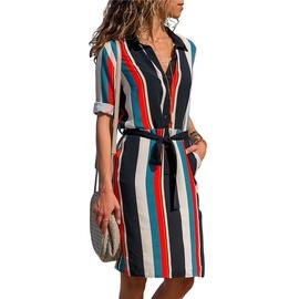 Printed Lace Mid-length Long Sleeve Dress  NSGE35070