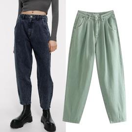 Fashion Loose High Waist Denim Trousers  NSGE35077