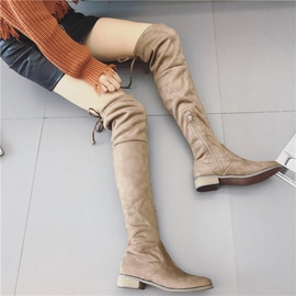 New Suede Thick Heel Stretch Boots  NSHU35146