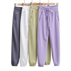 Basic Style Zipper Pocket Design Sports Pants NSLD35155