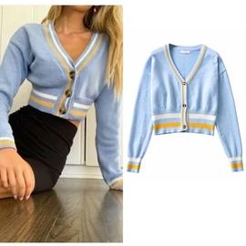 Spring And Autumn New Stretch Slim Sweater Cardigan NSLD35158