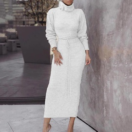 Autumn And Winter New Solid Color Long-sleeved Knitted Set NSSE35178