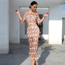 Sexy Sequin Slim Evening Dress  NSSE35190