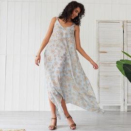 Bohemian Sweet Style Flower Print Dress NSSE35224