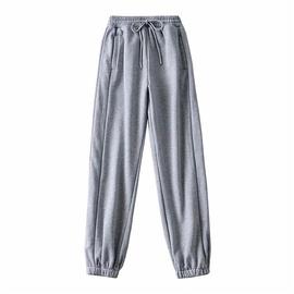 Reflective Strip Design Elastic Waist Sports Pants  NSLD35253