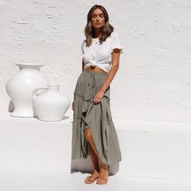 High Waist Slim Pleated Irregular Skirt NSHZ35273