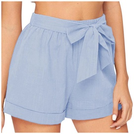 Casual Slim Cotton Linen Shorts  NSHZ35289