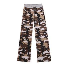 Waist Tie Camouflage Print Pants NSXS35300
