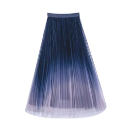 Gradient Color Glittering Sequined Mesh Skirt  NSXS35303