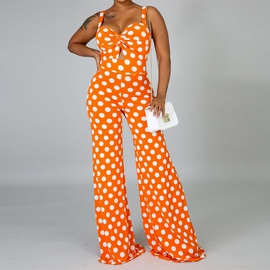 Polka Dot Printed Wide-leg Jumpsuit NSXS35336