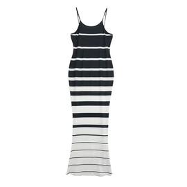 Sexy Gradient Striped Sling Dress NSXS35339
