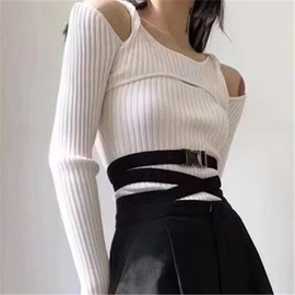 Fake Two-piece Knitted Sweater Bottoming Shirt NSHS35381