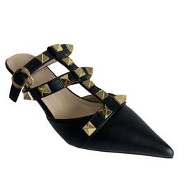 Pointed Rivet High Heel Buckle Sandals  NSCA38266
