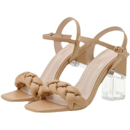Fashion Thick Heel Crystal Sandals NSCA38276