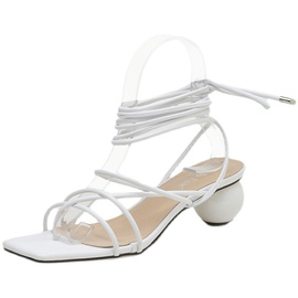High Heel Lace Sandals NSCA38278