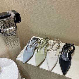 Metal Chain Mid-heel Single Shoes  NSCA38290