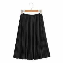 Elastic Waist Chiffon Pleated Loose Long Skirt NSAM38357
