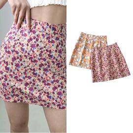 Summer High-waisted Print Design Skirt NSLD38502
