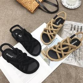 Open-toed Flat-bottomed Fisherman Shoes  NSHU38579