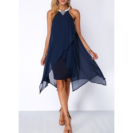 Pure Color Casual Fashion Sleeveless Dress NSSA40727
