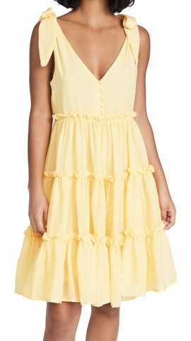 Pure Color Bohemian Suspender Mid-length Dress  NSSE40733