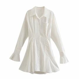 Casual Lapel Waist Type A Long-sleeved Dress  NSAM40183