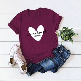 Popular Love Printed Cotton Short-sleeved T-shirt NSSN40882