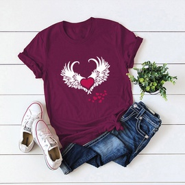 Wings Love Tops Cotton Short-sleeved T-shirt NSSN40887