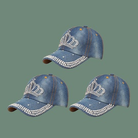 Fashion Diamond Baseball Sunshade Cap  NSTQ41182