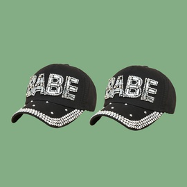 Black Fashion Letters Baseball Cap NSTQ41201
