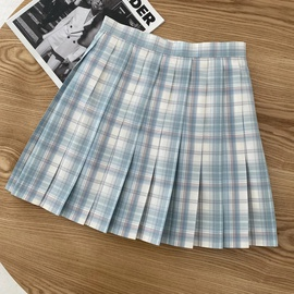 High Waist Short Pleated Skirt  NSAC41397