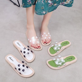 All-match Transparent Polka-dot Slippers NSPE41499