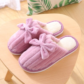 Autumn And Winter Bow Cotton Slippers Non-slip Slippers NSPE41502