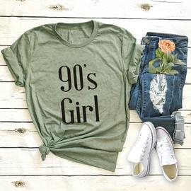 Fashion Letter Short-sleeved Female T-shirt NSSN41903