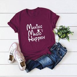 Creative Round Neck Letter Female T-shirt  NSSN41919