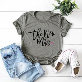Fashion Casual Short Sleeves Women's T-shirt  NSSN41930