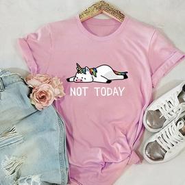 Unicorn Short-sleeved Lovely T-shirt NSSN41937