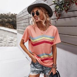 Summer Short-sleeved Flower T-shirt NSDY41969